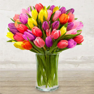 Bouquet Cheerful<br>&#8220;Coloured Tulips&#8221;