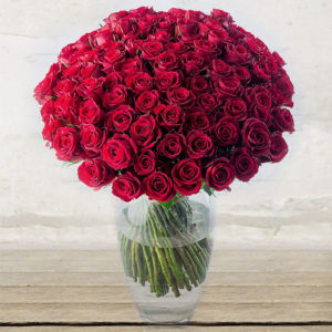 "Roses Long-stem ""Red Naomi"" Custom quantity"