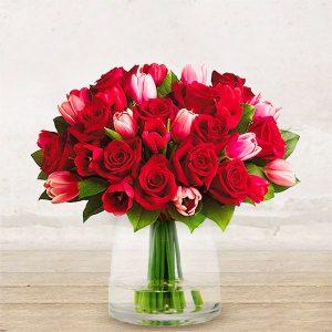 """Tulipani e Rose Rosse """"Baciami"""""""