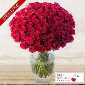 "Red Roses ""Red Naomi"" Deluxe<br> Long-stem Custom quantity"