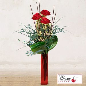 """3 Red Roses Long Stem <br>""""Thought of Love"""""""